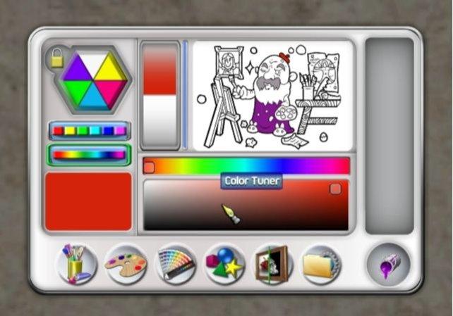 Die Farben könnt ihr stufenlos aus dem Regenbogenspektrum auswählen.