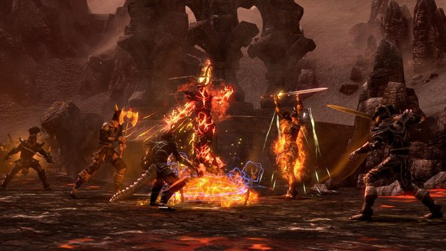 In Oblivion kämpfen die Allianzen gegen finstere Daedra-Dämonen.