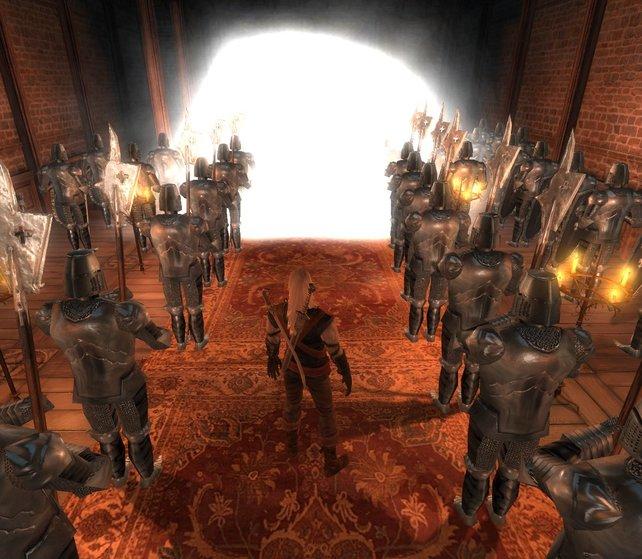 """In der Mod """"Entrapped"""" übernachtet Hexer Geralt in einem lauschigen Dorf. Am nächsten Morgen ist er ein Gefangener."""