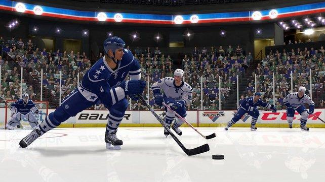 """Zum ersten Mal laufen in der NHL-Serie im Rahmen der """"Legenden-Spieler"""" auch Frauen aufs Eis."""