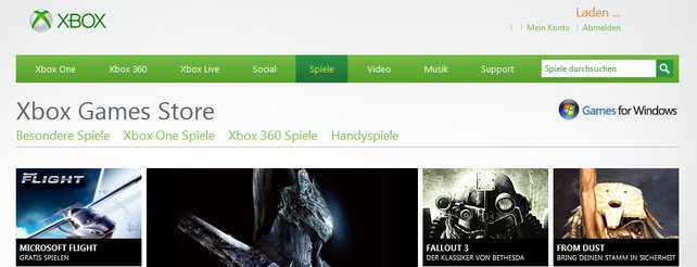 Games for Windows Live: Microsoft schließt Spieleladen