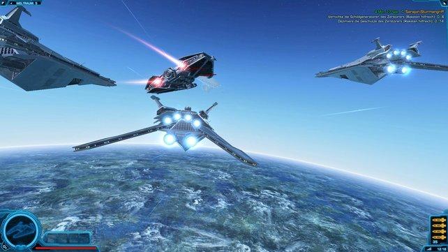 Durch den Weltraum fliegen - das könnt ihr in World of Warcraft nicht. Wäre ja auch merkwürdig.