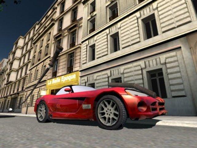 Sportwagen gegen Straßenlaterne ...
