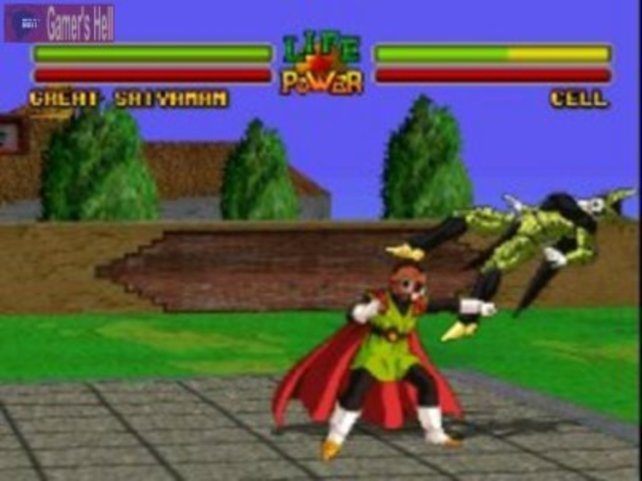 Kämpfe in Polygon-Grafik: Dragon Ball Z - Ultimate Battle 22.
