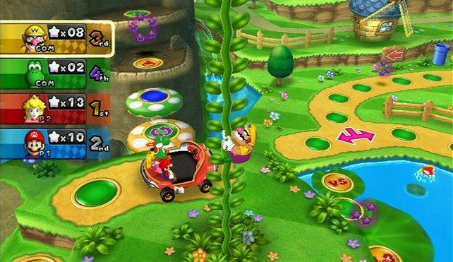Mario Party 9 wirkt zunächst wie ein Brettspiel. Die vielen Minispiele machen den Reiz aus.