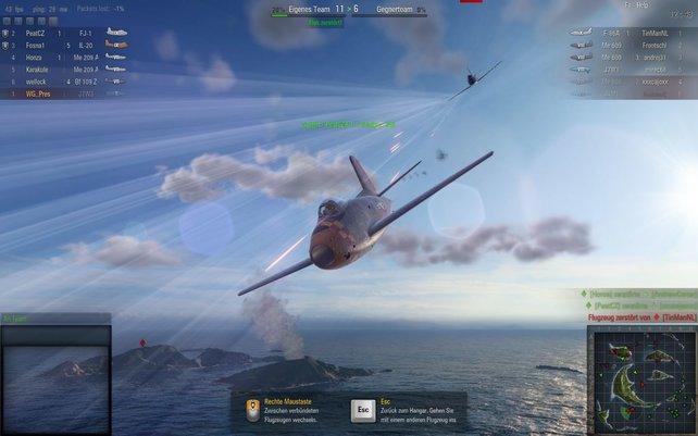 World of Warplanes: Luftkämpfe vor dem Hintergrund des Zweiten Weltkriegs.
