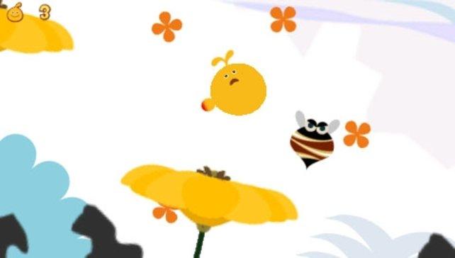Passt auf Bienen und andere Hindernisse auf!