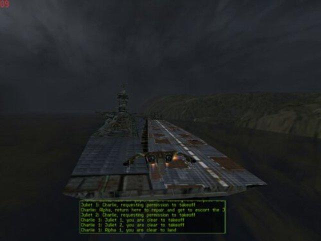 Im Nachtanflug auf den Flugzeugträger