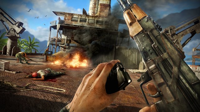Vom Überlebenskünstler zur Kampfmaschine: Jason kommt mit jeder Waffe zurecht.