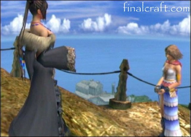 Yuna redet mit Lulu in Besaid