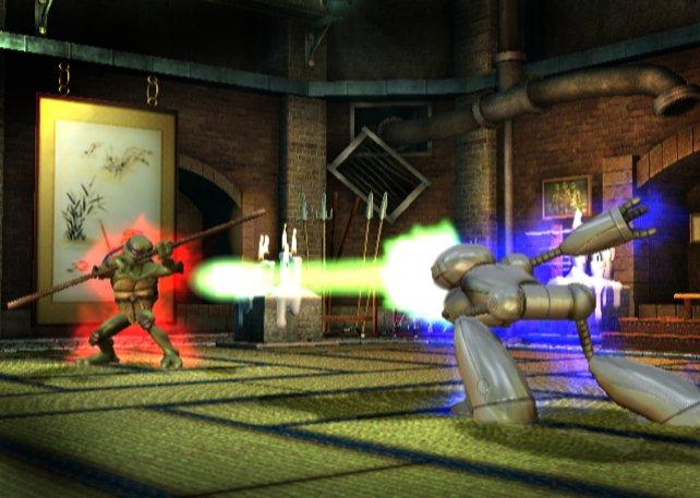 Unterschiedliche Charaktere, unterschiedliche Waffen: Der Fugitoid schießt mit Lasern.