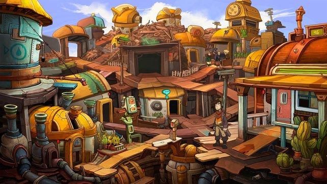 Die Requisiten im Stadtkern von Kuvaq mögen unappetitlich sein, sind aber ausgesprochen schön gezeichnet.