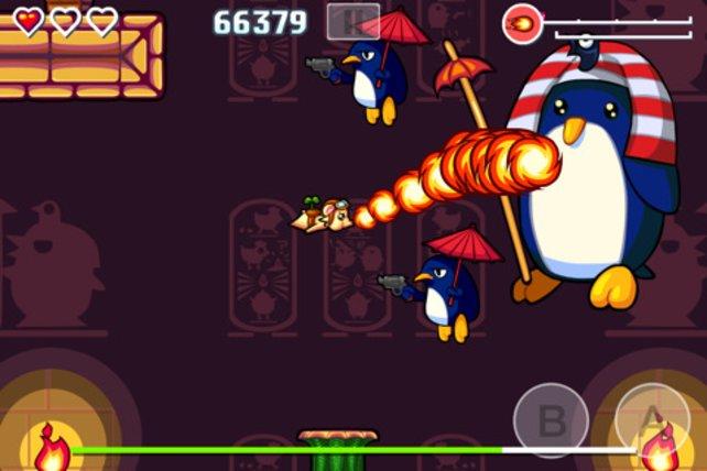 Ein Pinguin! Oder... doch ein Pharao? Man weiß es nicht.