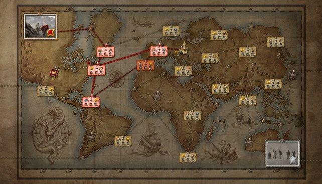 Ein Klick auf die Händler-Karte eröffnet euch, wie weit ihr mit euren Routen bisher gekommen seid.