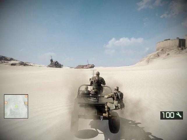 Ein Schiff mitten in der Wüste - ein Wüstenschiff?