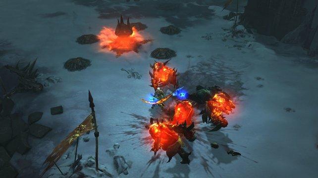 Kämpfen und Gegenstände einsacken - das macht in Diablo 3 Laune.