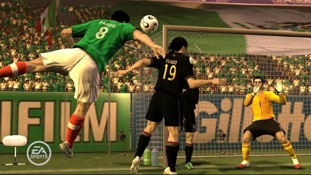Nationalteams sind natürlich auch vertreten, hier ein Spiel Mexico gegen Portugal.