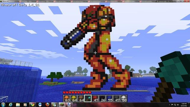 Die so genannte Pixel-Art ist bei Bauwettbewerben oft vertreten.