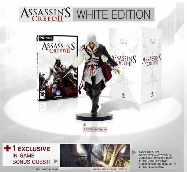 Die White-Edition zu Assassin's Creed 2 ist streng limitiert, die Black-Ausgabe in größeren Stückzahlen verfügbar.