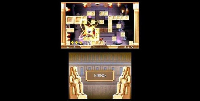 Ein wenig erinnert Pyramids an den Arcade-klassiker Solomon's Key.