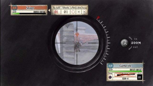 Zielen aus Sicht eines Scharfschützen - Treffer im Kopf erledigen die Gegner am schnellsten