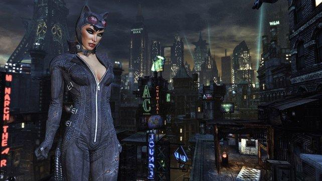 Ihr schlüpft auch in die Rolle der agilen Catwoman, die anders als Batman eher lautlos tötet.