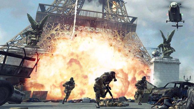Der Krieg tobt in Modern Warfare 3 unter anderem mitten in Paris.