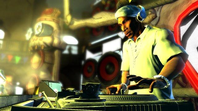 Hip-Hop-Legende Grandmaster Flash ist einer der bekanntesten Stars im Spiel.