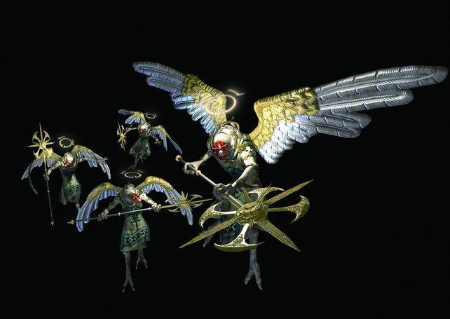 Sind Engel Geflügel? Wenn unsere Hexe hungrig ist, gibts Broiler zum Mittag.