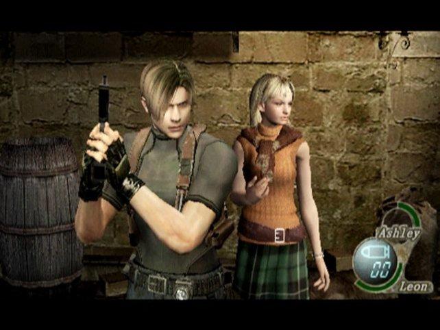 Leon spielt Ashleys Leibwächter und kann seine Blicke manchmal nicht unter Kontrolle halten.