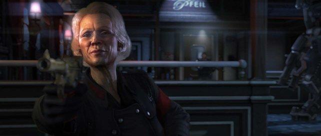 Die Nazi-Offizierin Engel prüft den Spieler bei einem makabren Test.