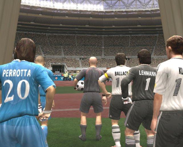 Begegnung zwischen Deutschland und dem Weltmeister Italien