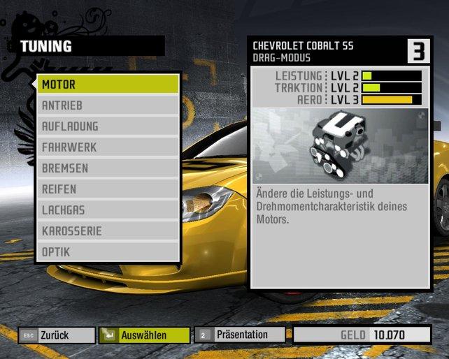 Mit gezieltem Tuning verbessert ihr die Leistungsfähigkeit eurer Fahrzeuge