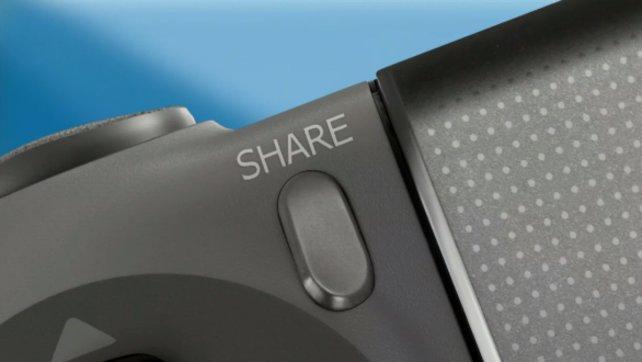 """Auf dem neuen Controller findet ihr den """"Share""""-Knopf - teilt Inhalte per Knopfdruck."""