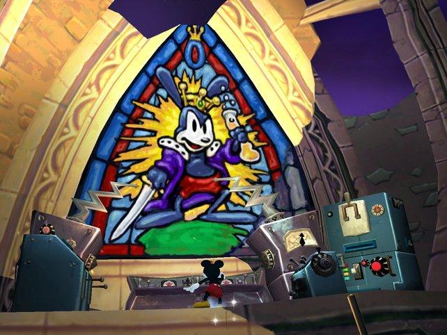 Füllen wir die Welt mit Farbe, werden wir zu Hero Micky und bekommen unser eigenes Denkmal.