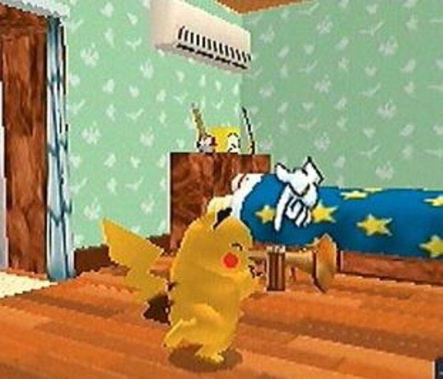Ihr kümmert euch um das süße Pikachu, damit es euch nach einiger Zeit vertraut.