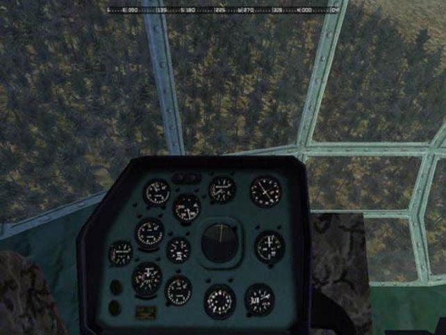 Im Cockpit eines Helicopters