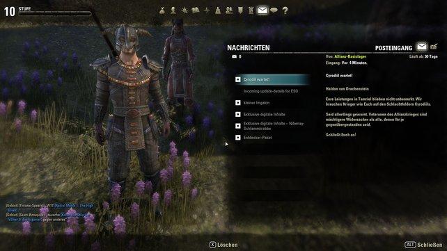 Ab der zehnten Stufe habt ihr in The Elder Scrolls Online Zugriff auf die Mehrspielerkampagne.