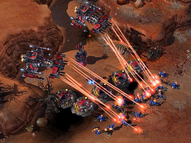 Terranische Einheiten im Einsatz.