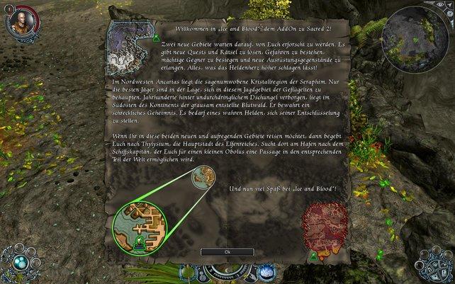 Die neuen Gebiete befinden sich am Kartenrand.