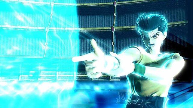 Yusuke Urameshi aus YuYu Hakusho zeigt mit seiner Spirit Gun, wo es langgeht.