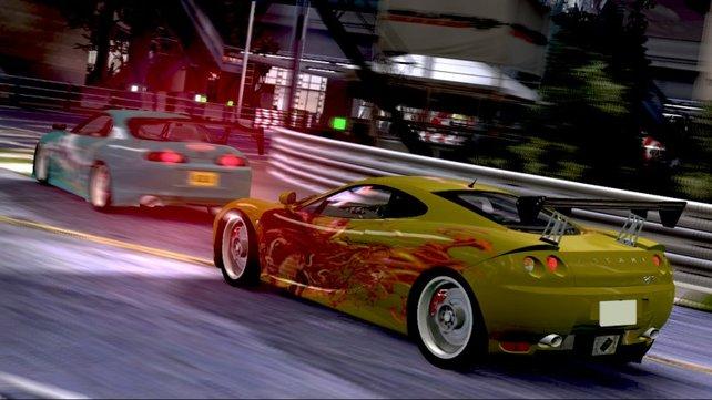 Die Rennen finden Nachts statt