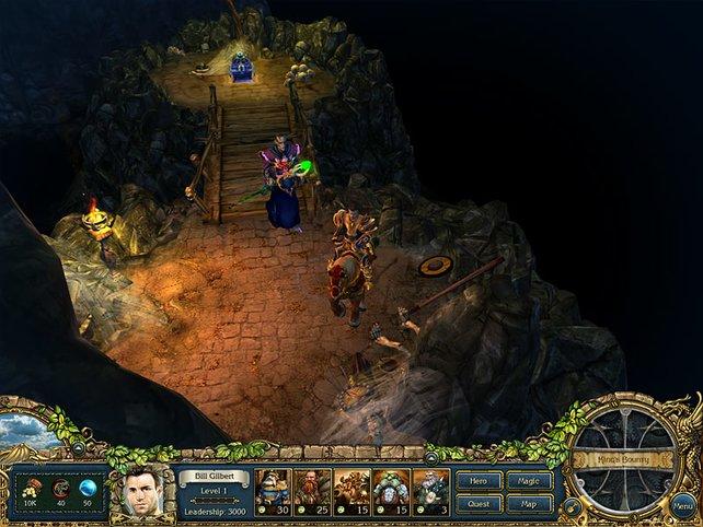 Dungeon-Kampf: Sobald ihr einen Gegner trefft, geht das rundenbasierte Kämpfen los.