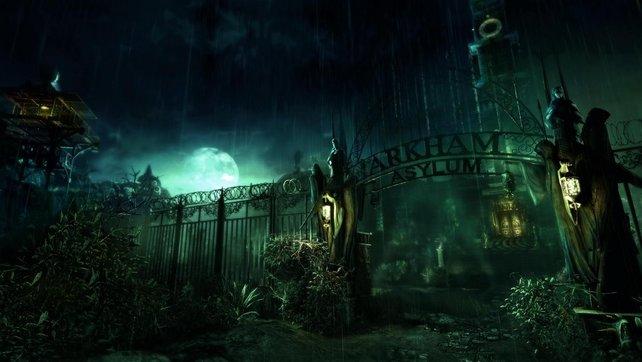 "Arkham Asylum, des Nächtens Schauplatz im neuen ""Batman""."