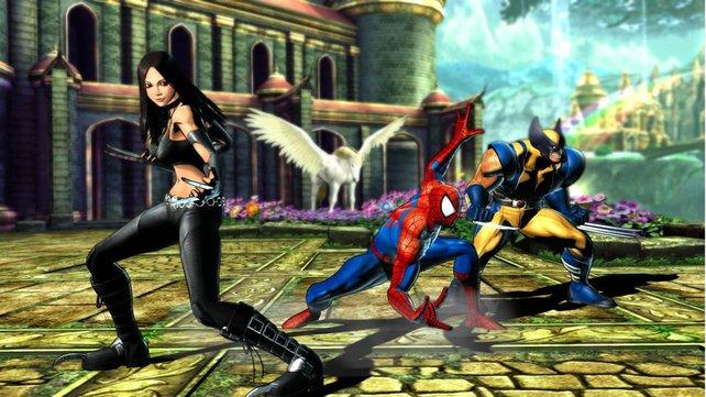 ... die Marvel-Kämpfer nehmen an.