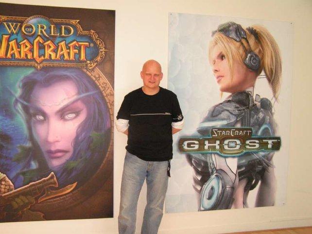 Spieletippsler Oliver bei Blizzard