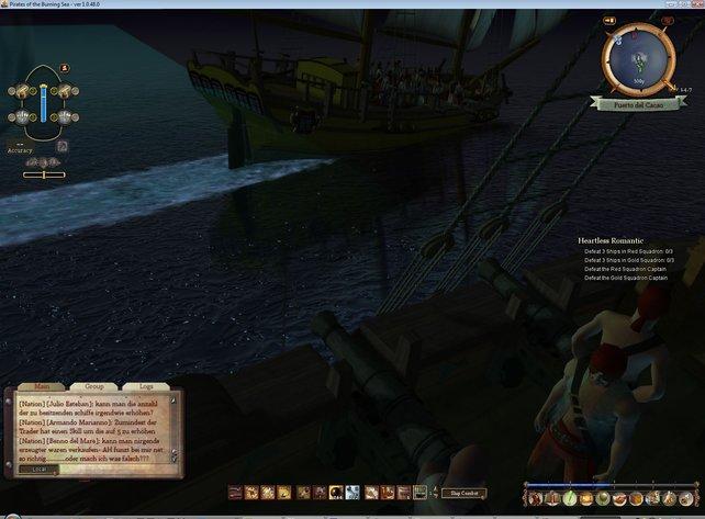 Auf in den Kampf. Im Zoom Modus sieht man so manches liebevolle Detail an den Schiffen.