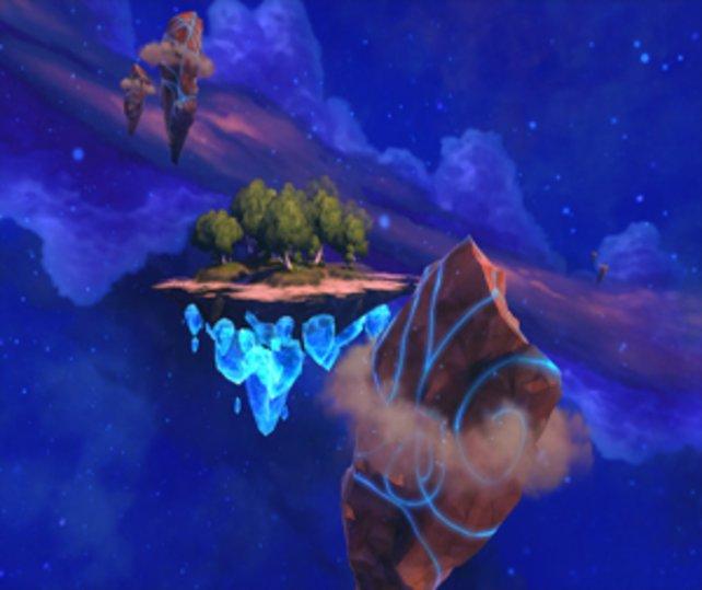 Nach der Zerstörung des Planeten entstanden nach und nach kleinere Inseln - die Allods.