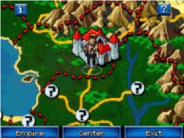 Etheria - auf dieser Weltkarte bewegt ihr euren Helden.