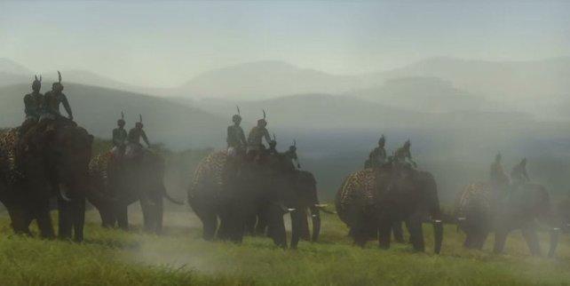 Jede Nation hat ihre Spezialfähigkeiten und Einheiten - hier die Kriegselefanten der Inder.